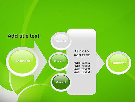 Green Flat Petals Abstract PowerPoint Template Slide 17