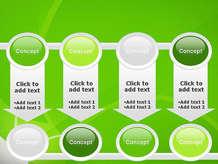 Green Flat Petals Abstract PowerPoint Template Slide 18