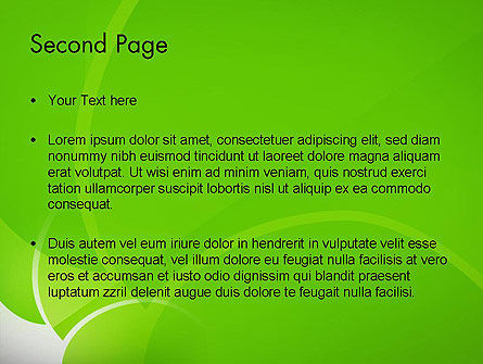 Green Flat Petals Abstract PowerPoint Template Slide 2