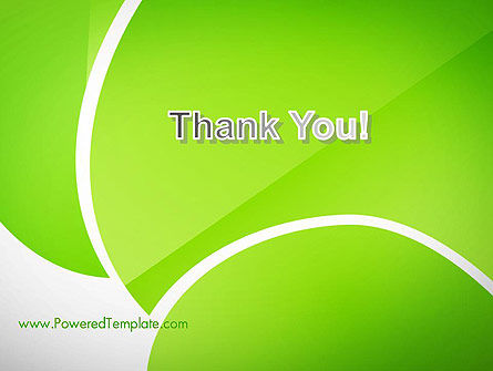 Green Flat Petals Abstract PowerPoint Template Slide 20