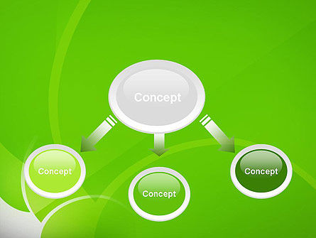 Green Flat Petals Abstract PowerPoint Template Slide 4