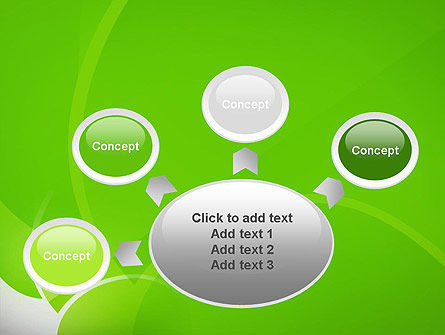 Green Flat Petals Abstract PowerPoint Template Slide 7
