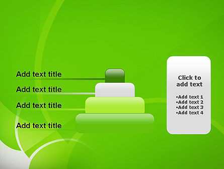 Green Flat Petals Abstract PowerPoint Template Slide 8