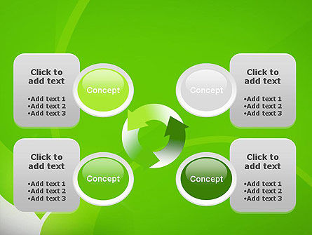 Green Flat Petals Abstract PowerPoint Template Slide 9