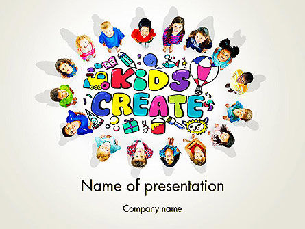Hello Kindergarten PowerPoint Template, 13883, Education & Training — PoweredTemplate.com