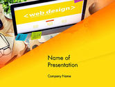 Careers/Industry: Web Design Services PowerPoint Template #13884