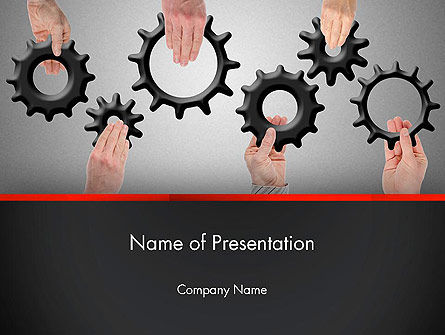Gears Engagement PowerPoint Template, 13886, Business Concepts — PoweredTemplate.com
