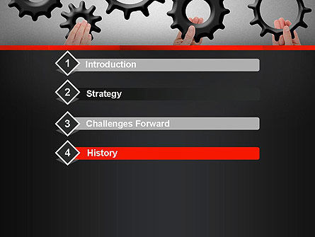 Gears Engagement PowerPoint Template, Slide 3, 13886, Business Concepts — PoweredTemplate.com