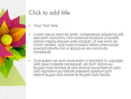 Abstract Flower PowerPoint Template, Slide 3, 13888, Nature & Environment — PoweredTemplate.com
