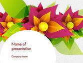 Nature & Environment: Abstracte Bloem PowerPoint Template #13888