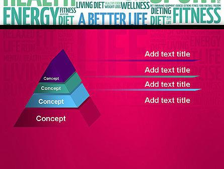 A Better Life Word Cloud PowerPoint Template Slide 12