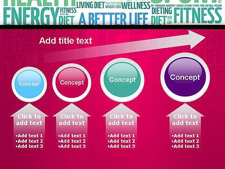 A Better Life Word Cloud PowerPoint Template Slide 13