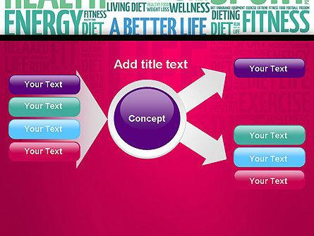 A Better Life Word Cloud PowerPoint Template Slide 14