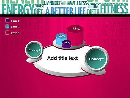 A Better Life Word Cloud PowerPoint Template Slide 16