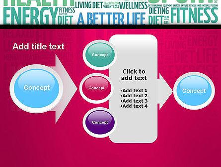 A Better Life Word Cloud PowerPoint Template Slide 17