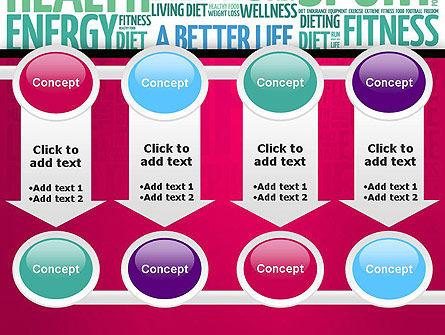 A Better Life Word Cloud PowerPoint Template Slide 18