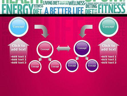 A Better Life Word Cloud PowerPoint Template Slide 19