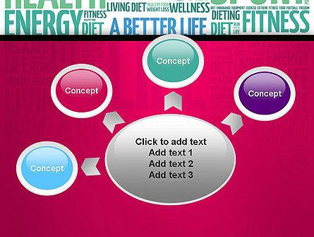 A Better Life Word Cloud PowerPoint Template Slide 7