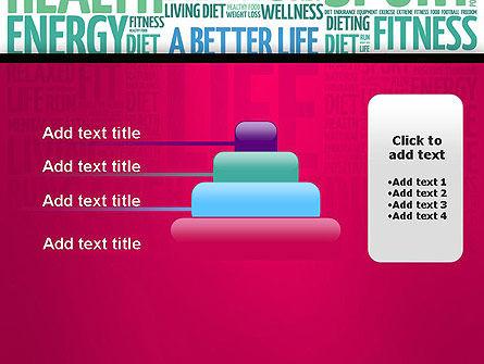 A Better Life Word Cloud PowerPoint Template Slide 8