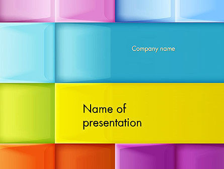 Abstract/Textures: Multicolored Tiles PowerPoint Template #13891