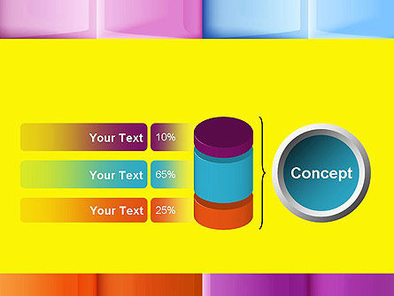 Multicolored Tiles PowerPoint Template Slide 11