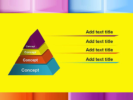 Multicolored Tiles PowerPoint Template Slide 12