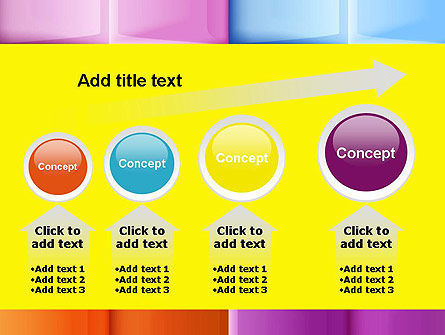 Multicolored Tiles PowerPoint Template Slide 13