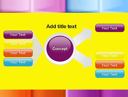 Multicolored Tiles PowerPoint Template Slide 14