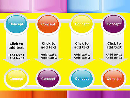 Multicolored Tiles PowerPoint Template Slide 18