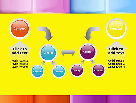 Multicolored Tiles PowerPoint Template Slide 19