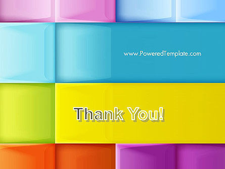 Multicolored Tiles PowerPoint Template Slide 20