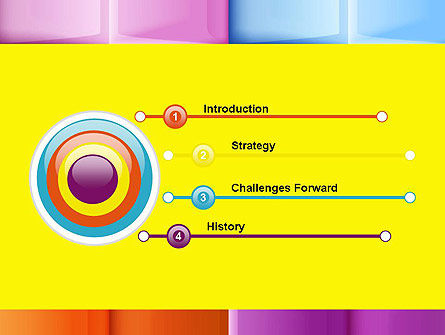 Multicolored Tiles PowerPoint Template Slide 3