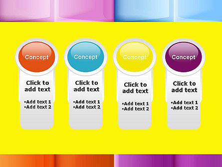 Multicolored Tiles PowerPoint Template Slide 5