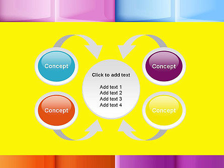 Multicolored Tiles PowerPoint Template Slide 6
