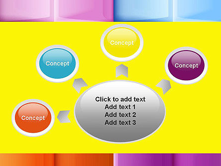 Multicolored Tiles PowerPoint Template Slide 7