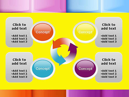 Multicolored Tiles PowerPoint Template Slide 9