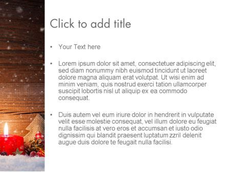 Christmas Candlelight PowerPoint Template, Slide 3, 13892, Holiday/Special Occasion — PoweredTemplate.com