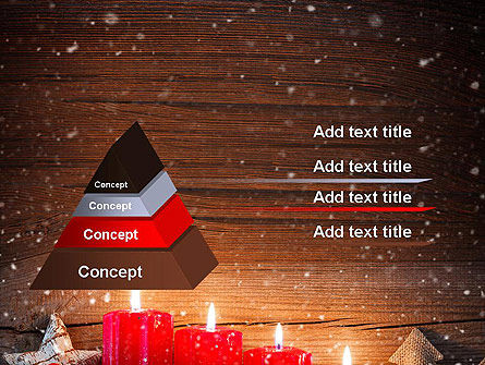 Christmas Candlelight PowerPoint Template Slide 12