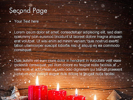 Christmas Candlelight PowerPoint Template, Slide 2, 13892, Holiday/Special Occasion — PoweredTemplate.com