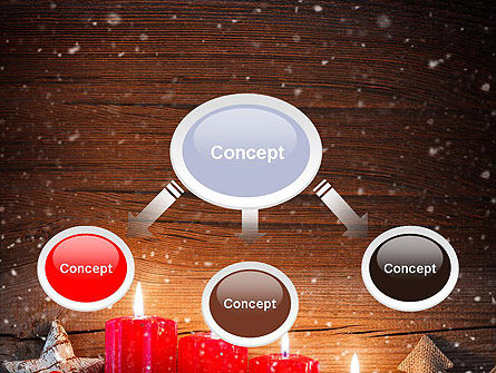 Christmas Candlelight PowerPoint Template Slide 4