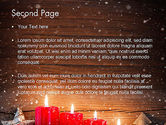 Christmas Candlelight PowerPoint Template#2