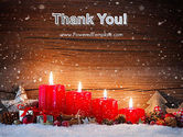 Christmas Candlelight PowerPoint Template#20