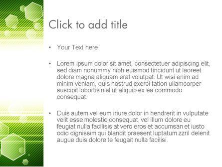 Tech Green Background with Hexagons PowerPoint Template, Slide 3, 13893, Abstract/Textures — PoweredTemplate.com
