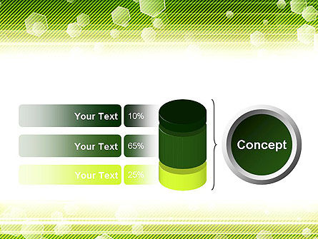 Tech Green Background with Hexagons PowerPoint Template Slide 11