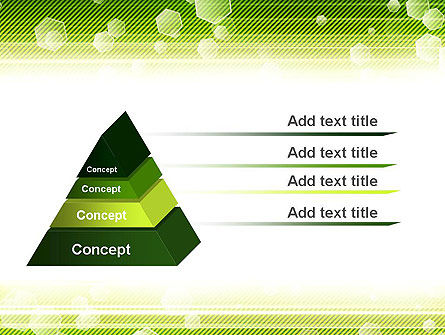 Tech Green Background with Hexagons PowerPoint Template Slide 12