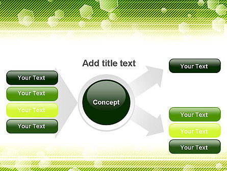Tech Green Background with Hexagons PowerPoint Template Slide 14