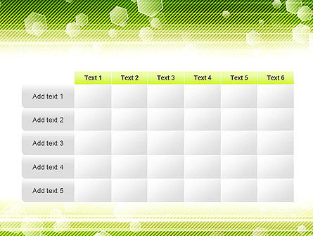 Tech Green Background with Hexagons PowerPoint Template Slide 15