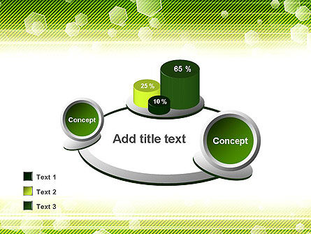 Tech Green Background with Hexagons PowerPoint Template Slide 16