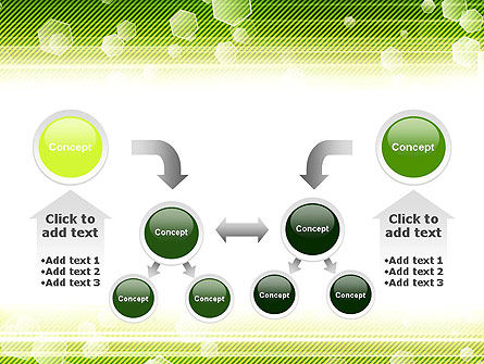 Tech Green Background with Hexagons PowerPoint Template Slide 19