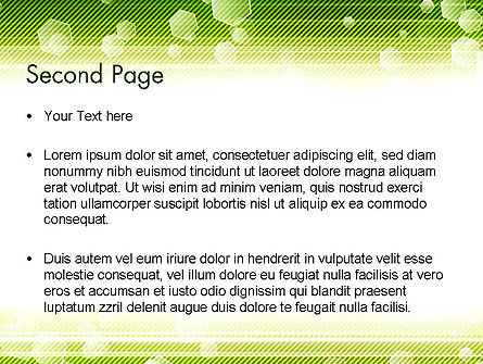 Tech Green Background with Hexagons PowerPoint Template Slide 2